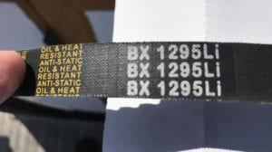 Replacement Belts for BCRL-49A, 57A & 65A