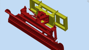 SS-SP-220 Front Mounted Snow Plow for Skid Steer