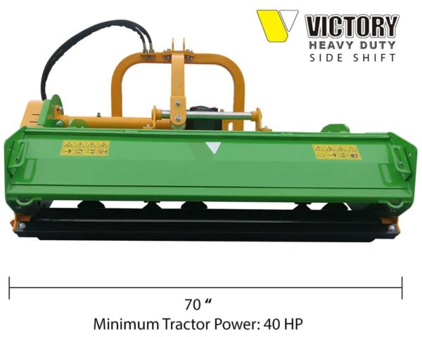 Victory FMHDH-70 Heavy Duty Flail Mower with Hydraulic Side Shift