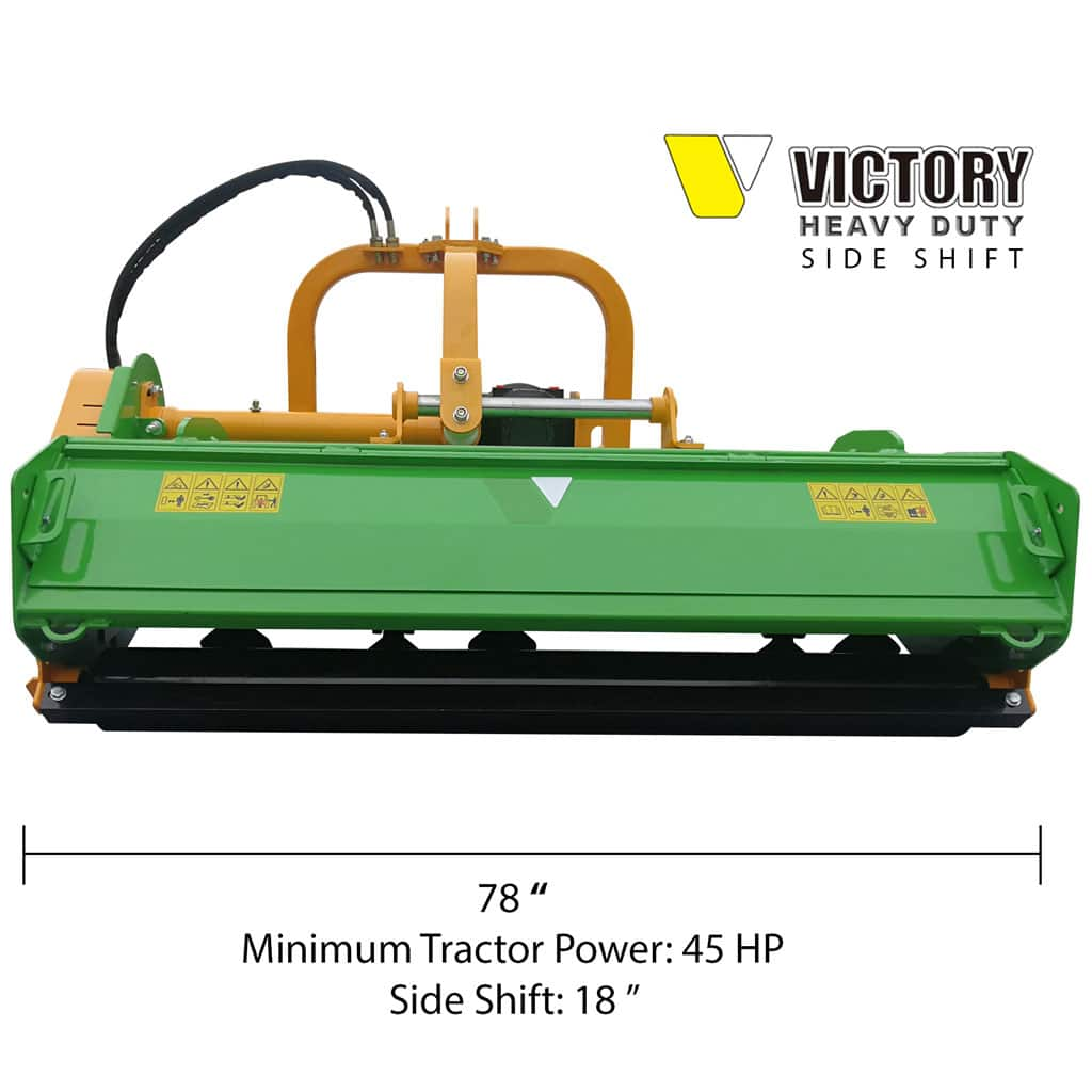 Victory FMHDH-78 Heavy Duty Flail Mower with Hydraulic Side Shift