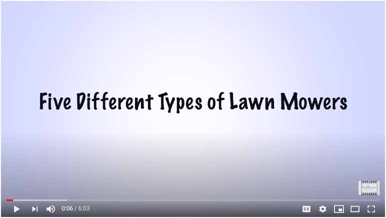 Five Different Types of Lawn Mowers