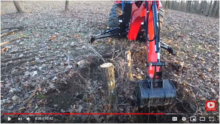 Compact Tractor Stump Removal
