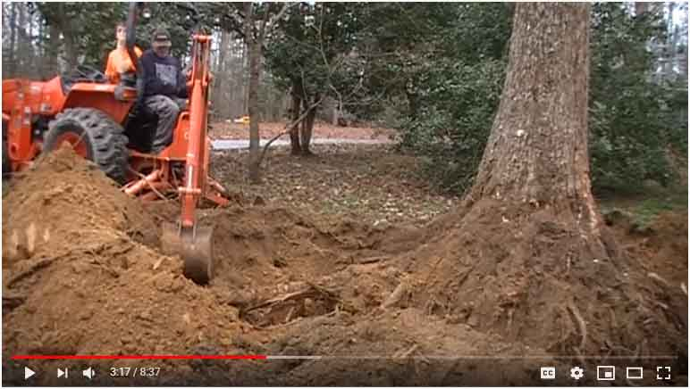 Subcompact Tractor Stump Removal