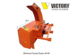 PTO mounted snow blower for tractor