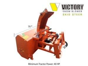 Front Mounted Skid Steer Snow Blower