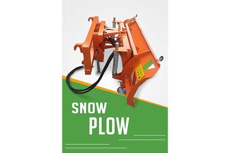 Tractor Mounted Snow Plow