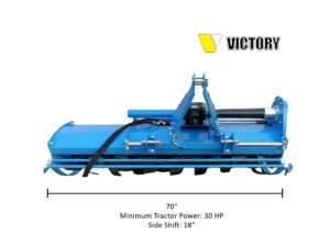 HDRTH-70 Heavy Duty Rotary Tiller with Hydraulic Side Shift