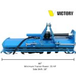 HDRTH-80 Heavy Duty Rotary Tiller with Hydraulic Side Shift