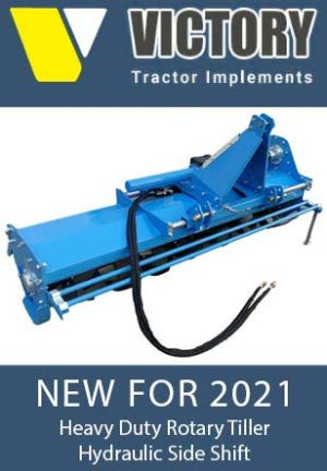 Heavy Duty Rotary Tiller with Side Shift
