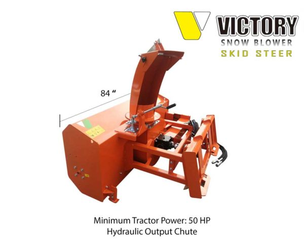 84 inch Snowblower with Hydraulic Output Chute