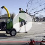 motorized wood chipper